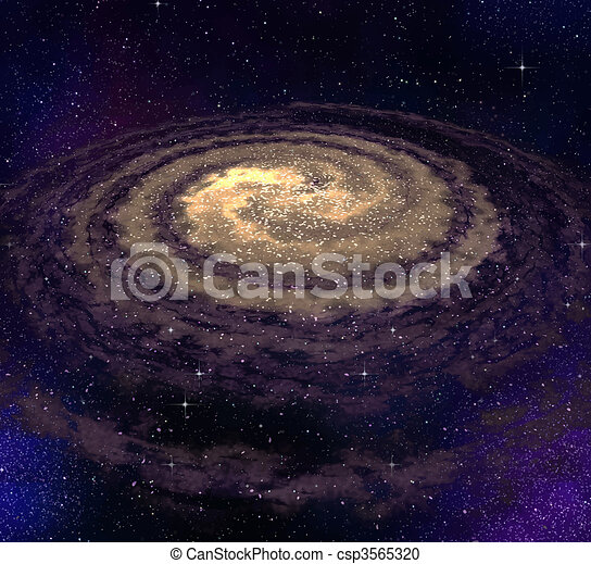 tourbillonner, galaxie - csp3565320