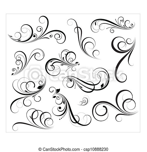 tourbillons, vectors - csp10888230