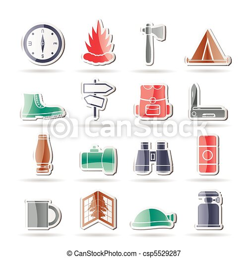 Tourism and Holiday icons  - csp5529287