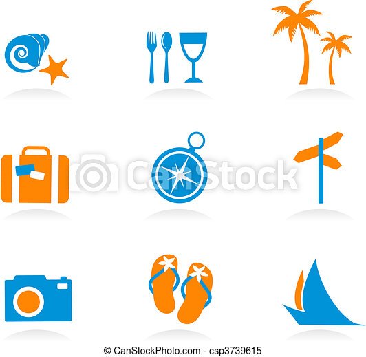 Tourism and vacation icons and logos - 2 - csp3739615