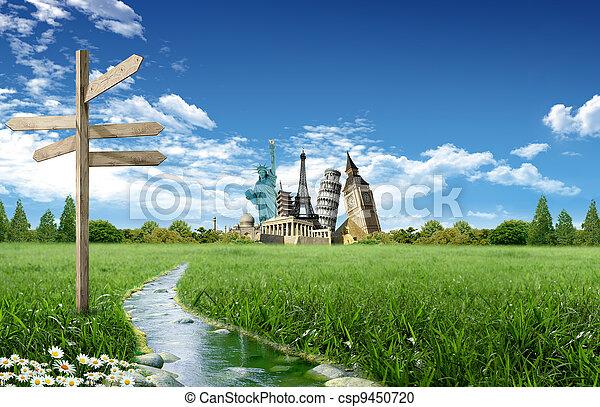 Tourism around the world - csp9450720