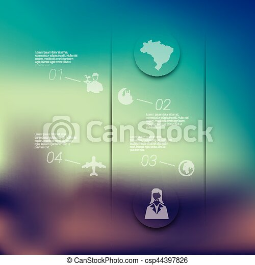 tourism infographic with unfocused background - csp44397826