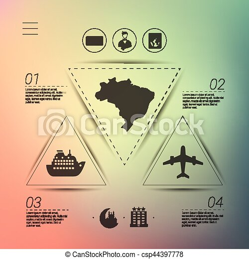 tourism infographic with unfocused background - csp44397778