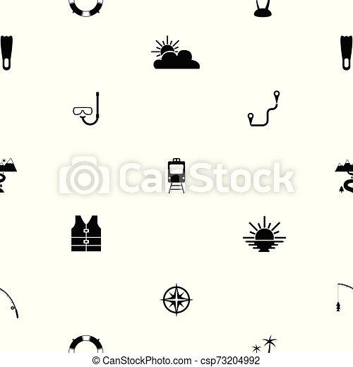tourism seamless pattern background icon. - csp73204992