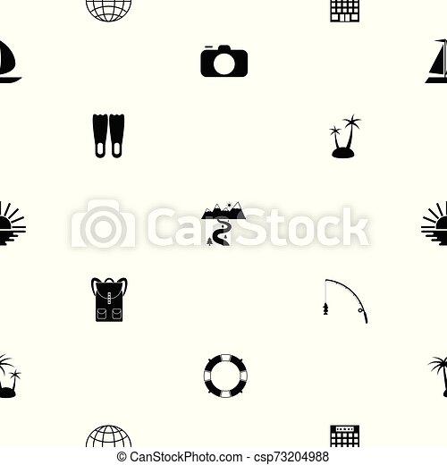 tourism seamless pattern background icon. - csp73204988