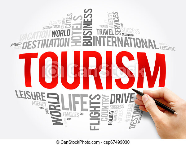 Tourism word cloud collage - csp67493030