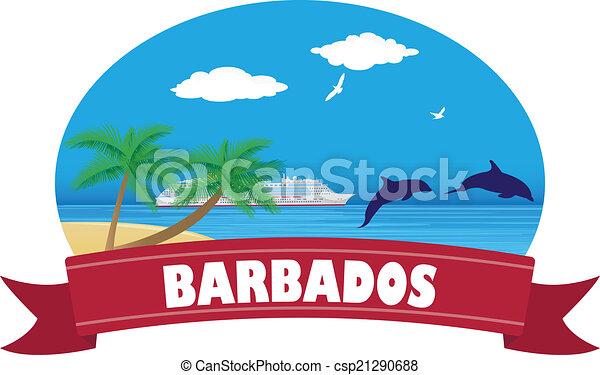 tourisme voyage, barbados. - csp21290688