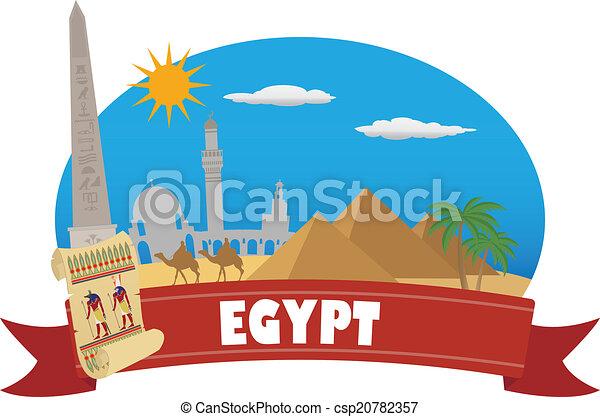 tourisme voyage, egypt. - csp20782357