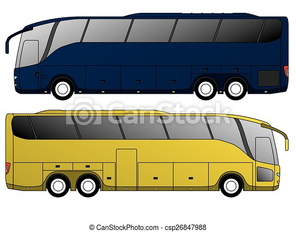 Tourist bus design with double axle - csp26847988