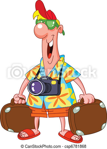 happy tourist vector search clip art illustration drawings and rh canstockphoto com tourist clipart black and white clipart tourist guide