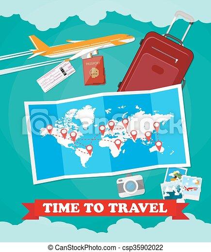 Tourist equipment background - csp35902022