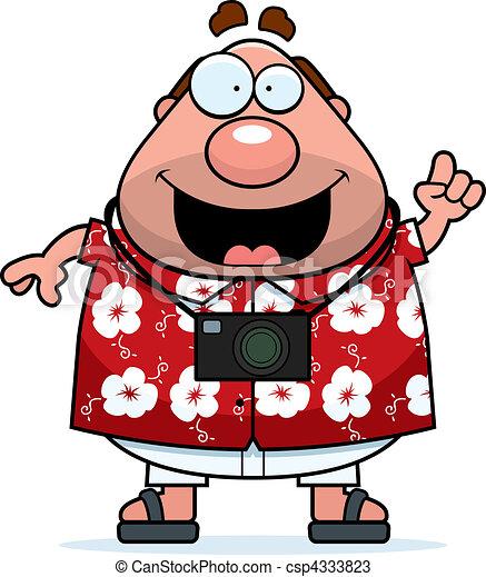 tourist idea a happy cartoon tourist with an idea vectors search rh canstockphoto com tourist bus clipart clipart tourist guide