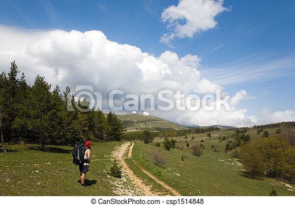 tourist in mountain - csp1514848