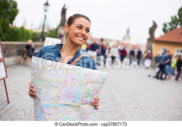 tourist in Prague - csp37807173