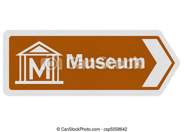 Tourist info series: museum - csp5058642