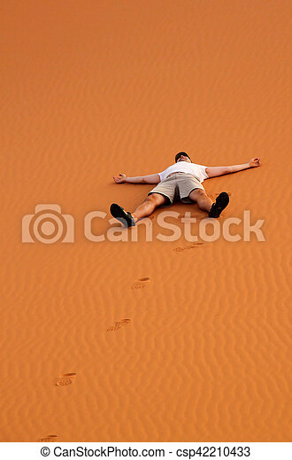 Tourist on a sand dunes - csp42210433