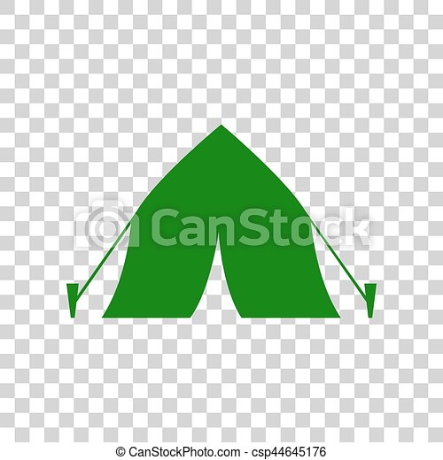 Tourist Tent Sign. Dark Green Icon On Transparent Background. Vector  sc 1 st  Can Stock Photo & Tourist tent sign. dark green icon on transparent... vectors ...