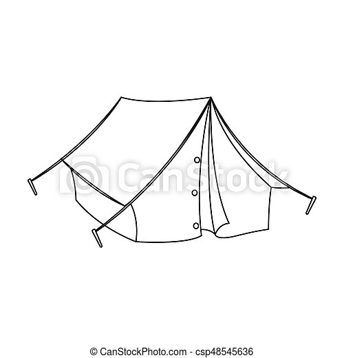 Tourist Tent.african Safari Single Icon In Outline Style Raster Bitmap Symbol Stock Illustration  sc 1 st  Can Stock Photo & Tourist tent.african safari single icon in outline style... stock ...