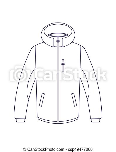 Touristic Winter Jacket Isolated Vector Icon Outdoor Activity