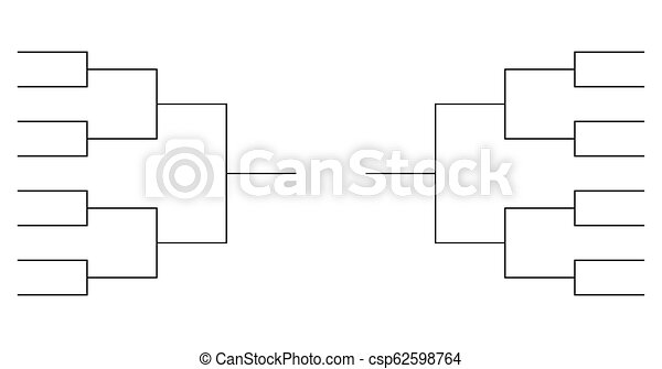 Tournament Bracket Template | Team Tournament Bracket Templates Vector