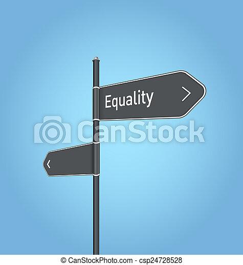 tout, égalité, gris, signe, sombre, route - csp24728528