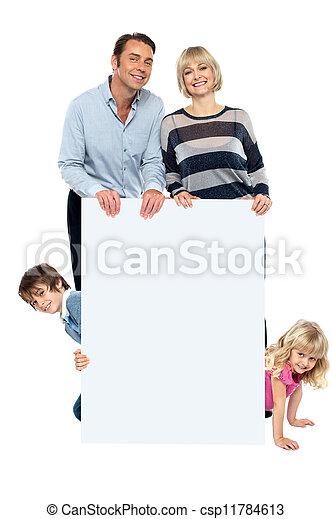 tout, autour de, famille, whiteboard, quatre, vif, vide - csp11784613