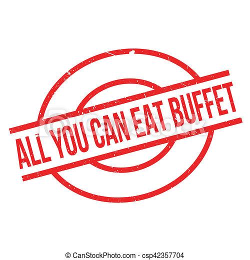 Tout Timbre Buffet Caoutchouc Boîte Vous Manger