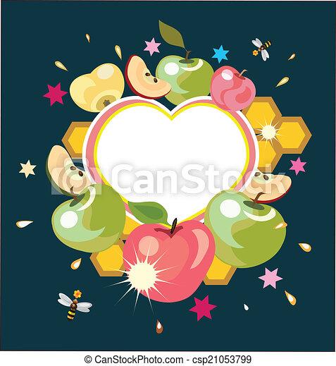 Shana Tova, tarjeta de felicitación. - csp21053799