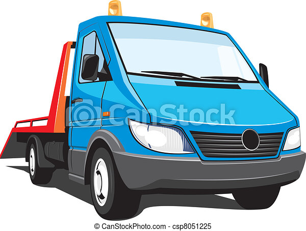 vector isolated tow truck on white background without clipart rh canstockphoto com tow truck vinyl graphics tow truck vinyl graphics
