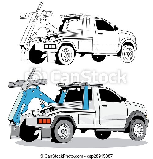 tow truck drawing an image of a tow truck