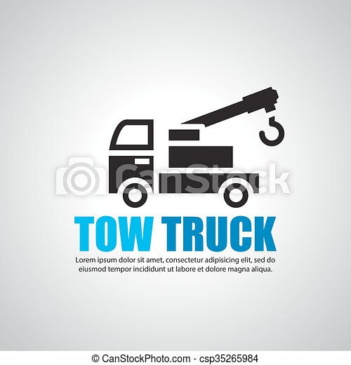 Tow Truck Symbol Vector Search Clip Art Illustration Drawings