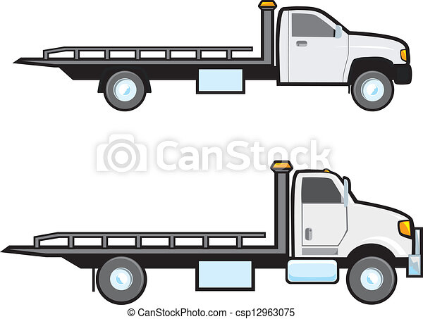 Tow Trucks Two Different Types Of Common American Flatbed Tow Trucks