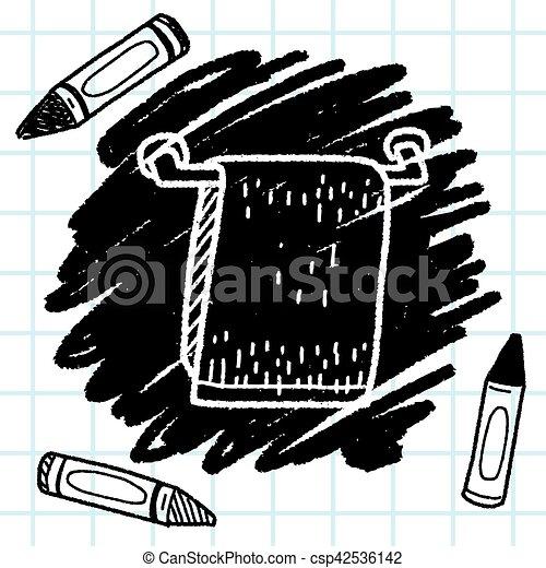 towel doodle - csp42536142