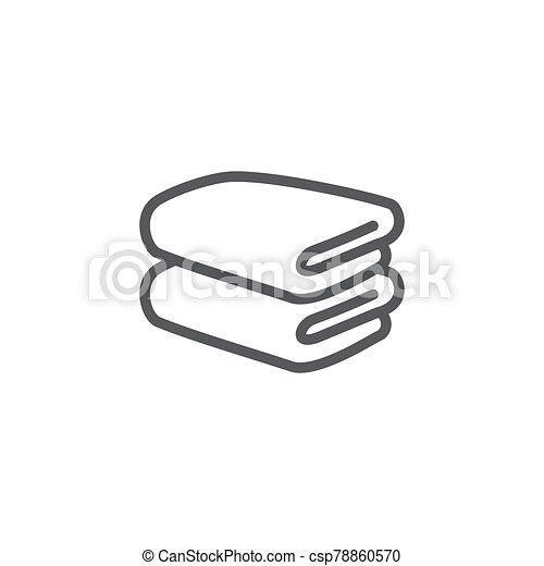 Towel line icon on white background - csp78860570