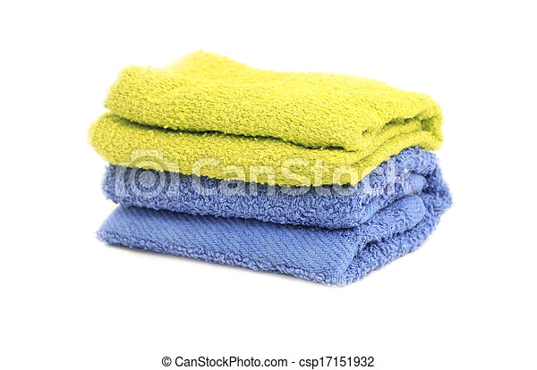 Towel over white background - csp17151932