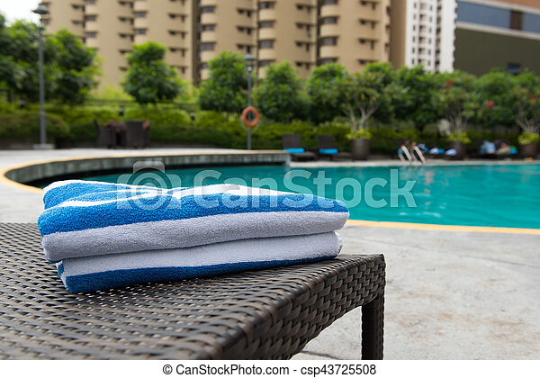 Towels on deck chair