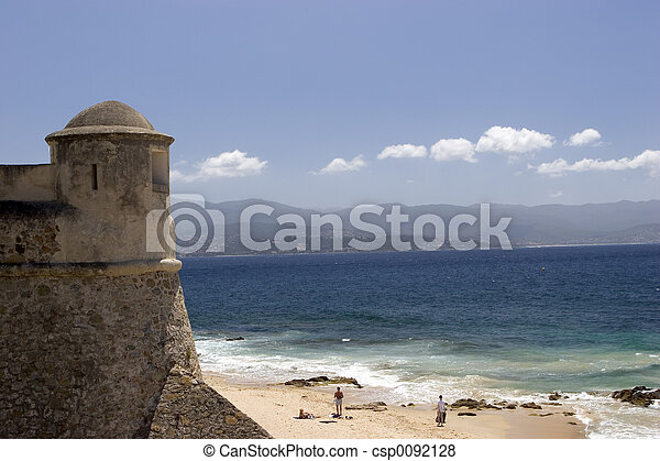 tower and beach - csp0092128