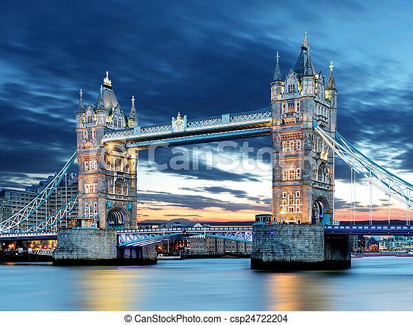 Tower Bridge in London, UK - csp24722204