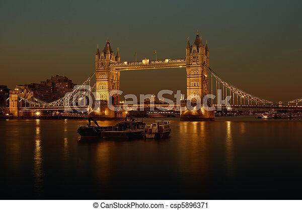 Tower Bridge, London - csp5896371