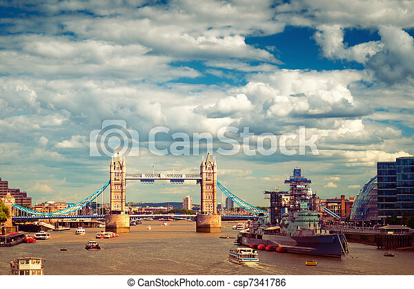 Tower Bridge, London - csp7341786