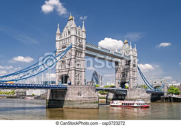 Tower Bridge, London. - csp3723272