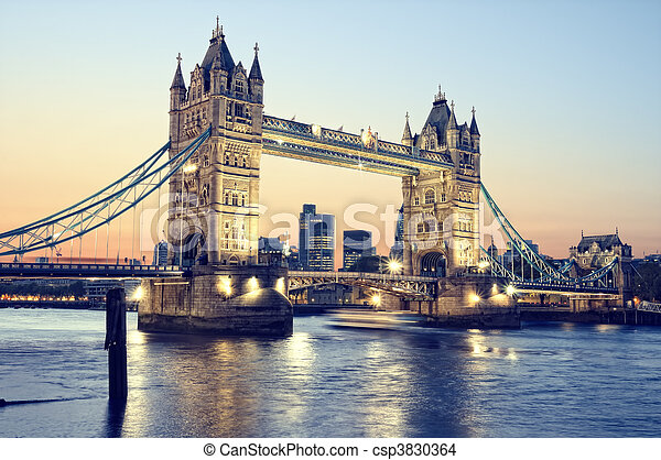 Tower Bridge, London. - csp3830364