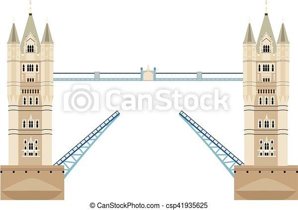 Tower Bridge Vector Vector Illustration London Tower Bridge Icon