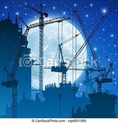 Tower Cranes - csp6051569