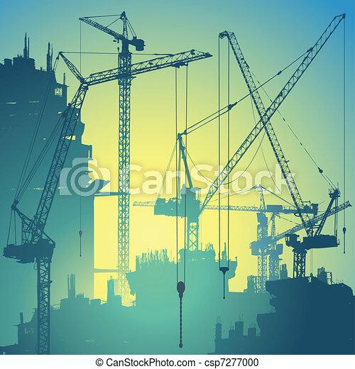 Tower Cranes - csp7277000