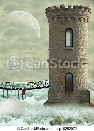tower in the ocean - csp10252972