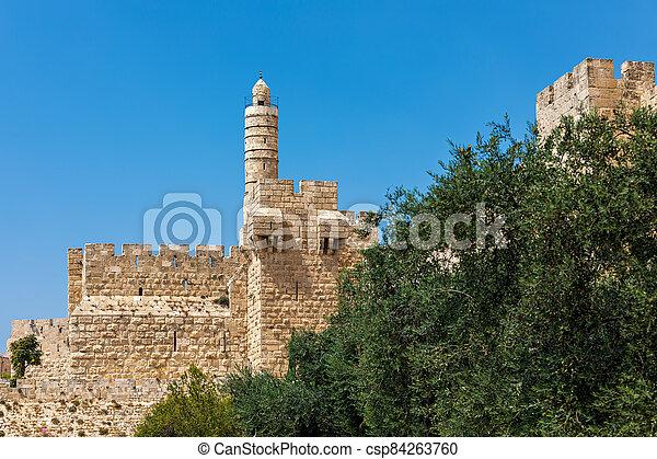 Tower of David in Jerusalem, Israel. - csp84263760