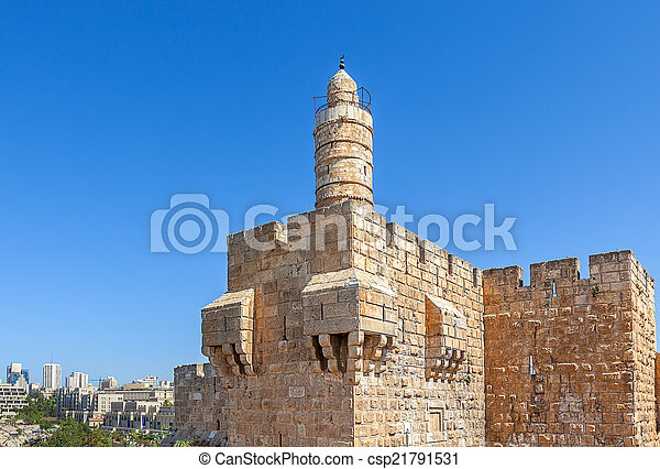 Tower of David in Jerusalem, Israel. - csp21791531
