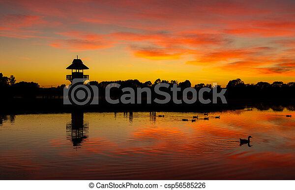 Tower of Henley Lake - csp56585226