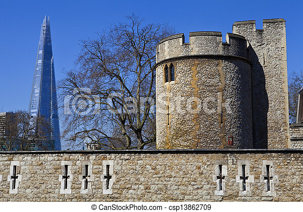 Tower of London and the Shard - csp13862709